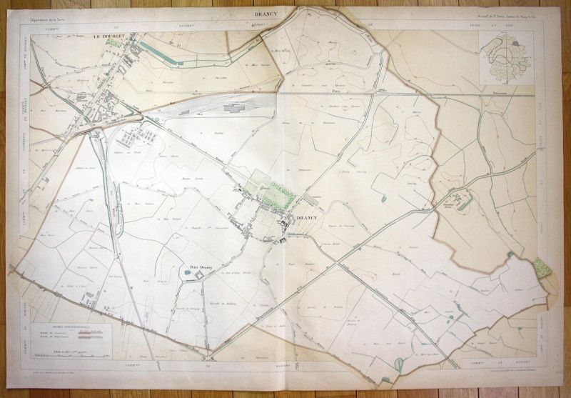 Drancy - Drancy Groslay Le Bourget Bobigny plan de la ville city map Paris