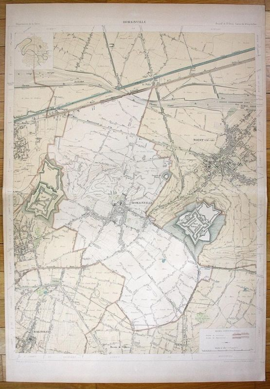 Romainville - Romainville Pantin Noisy-le-Sec Bagnolet Chemin plan de la ville city map Paris