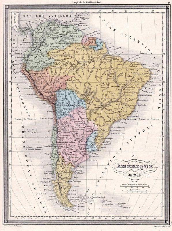 Amerique du Sud - America Amerika Columbia Kolumbien Brasilien ...
