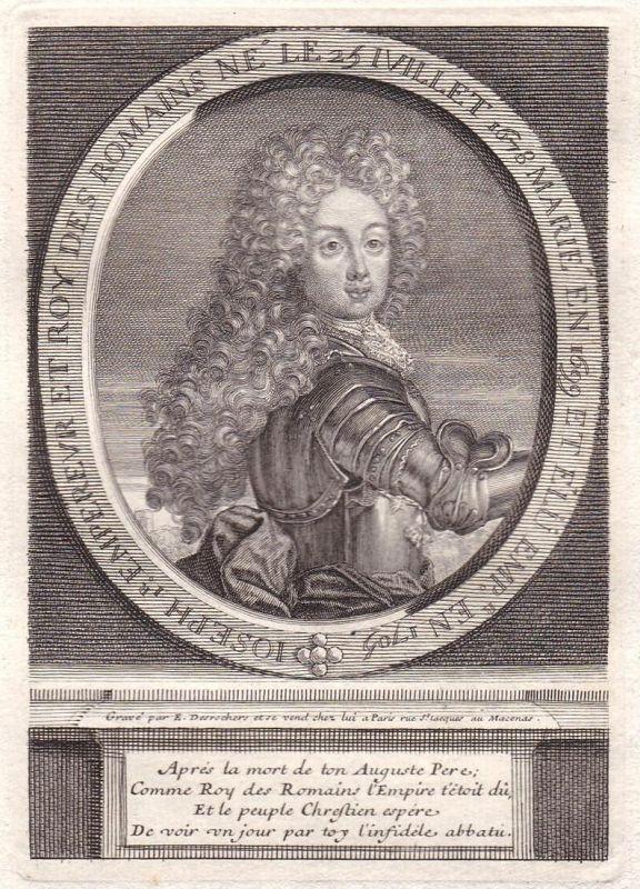 Ioseph I - Kaiser Joseph I. HRR Heiliges Römisches Reich Holy Roman Empire Portrait Kupferstich antique print