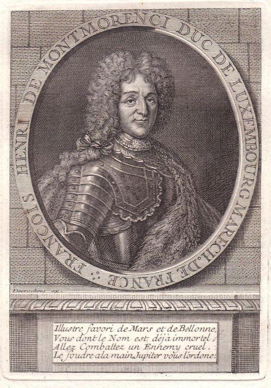 Francois Henri de Montmorenci - Francois-Henri de Montmorency-Luxembourg marechal gravure Portrait Kupferstich