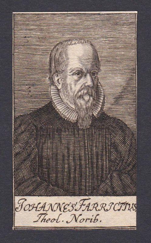 Johannes Farricijus / Johann Fabricius / theologian Theologe Nürnberg