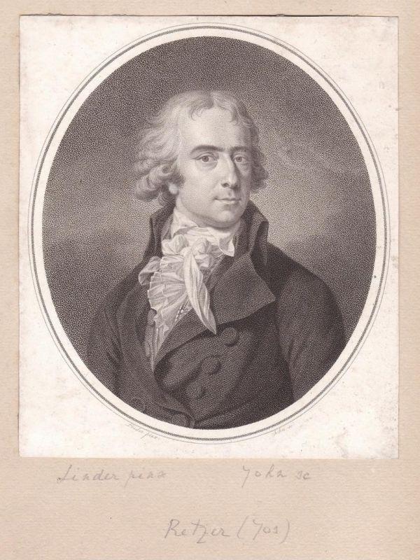 Joseph Friedrich Freiherr von Retzer Dichter Poet Portrait Kupferstich antique print