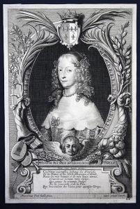 Anne de Bourbon duchesse de Longueville - Anne Genevieve de Bourbon-Conde Paris gravure Portrait Kupferstich a