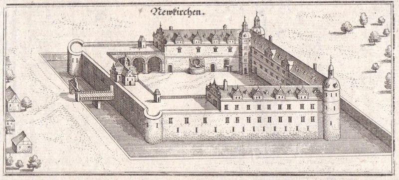 Neukirchen - Neukirchen Schloss Merian Kupferstich antique print