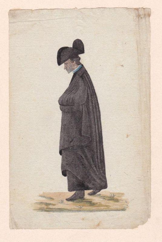 Georg Michael Wittmann. - Original Aquarell von ca. 1820.