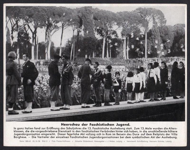 Heerschau der Faschistischen Jugend - Pressefoto Aktueller Bilderdienst Serie 1380 aS - Bild 3