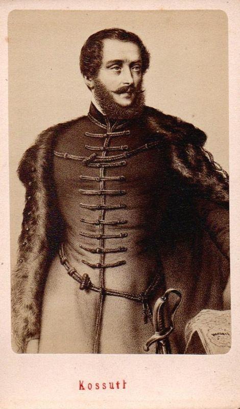 Lajos Kossuth (1802-1894) - Politiker politicien politician Rechtsanwalt Anwalt lawyer Portrait CDV Foto Photo