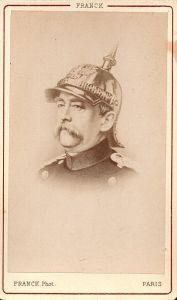 Otto von Bismarck (1815-1898) - Bundeskanzler Chancellor Portrait CDV Foto Photo vintage