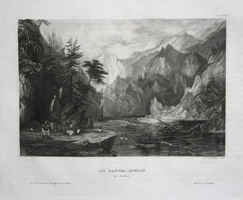 Das Ganges-Quelle in Indien - Ganges Ganga Ganges-Quelle spring India Indien Asia Asien Ansicht view Stahlstic
