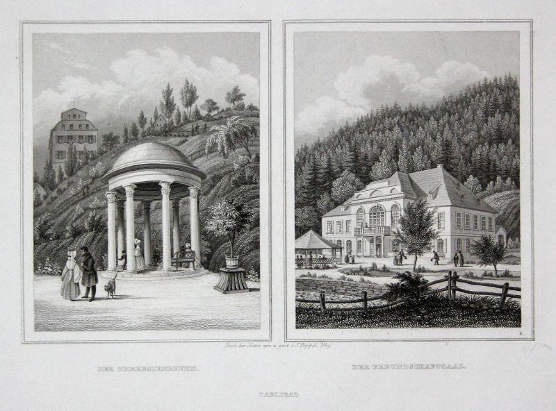 Der Theresienbrunn / Der Freundschaftsaal / Carlsbad - Theresienbrunnen Freundschaftssaal Karlsbad Ansicht vie