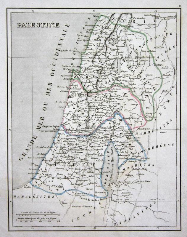 Palestine - Palästina Jerusalem Israel Asien Asia map Karte engraving antique print