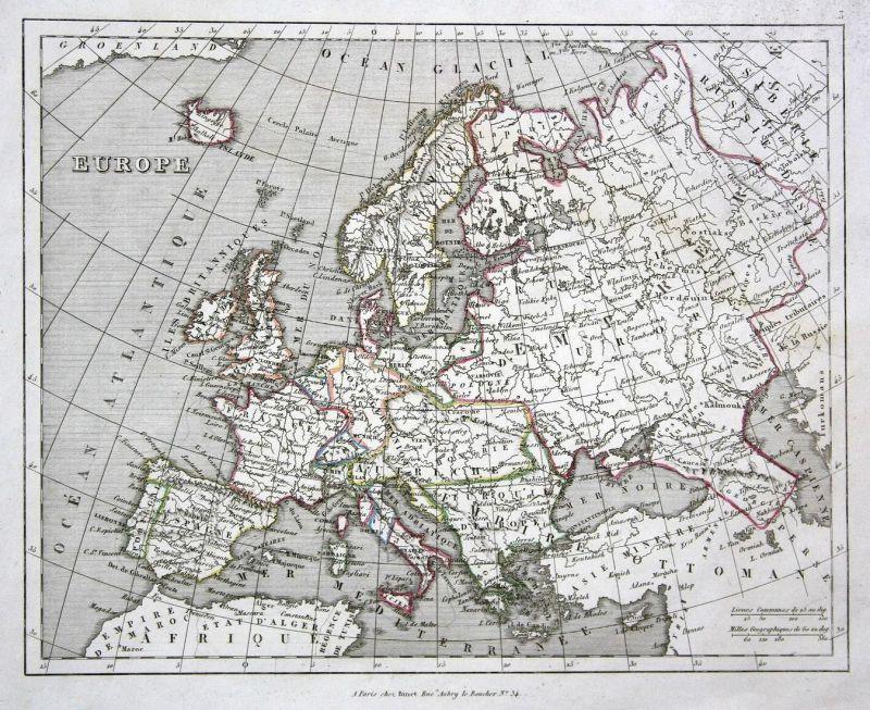 Europe - Europa Europe Frankreich Spanien Italien Deutschland Italy Spain France Österreich Austria map Karte