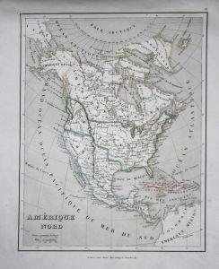 Amerique Nord - North America Nordamerika Amerika America Karte USA US Kanada Canada Central America Guatemala