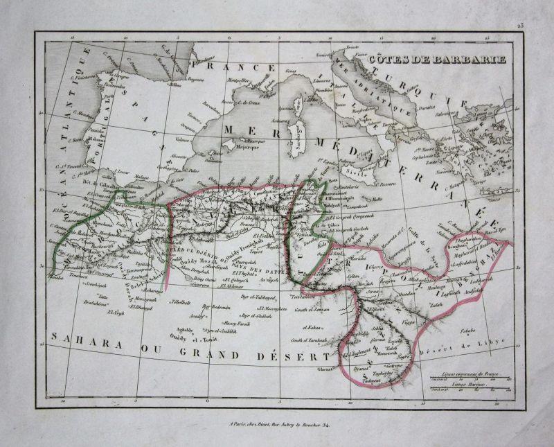 Cotes de Barbarie - Marokko Marocco Algerien Algeria Tunisia Tunisien Afrika Nordafrika Africa North Africa Ka