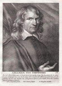 Abraham van Diepenbeke - Abraham van Diepenbeeck Maler painter Portrait Kupferstich copper engraving antique p