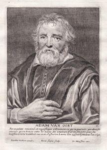 Adam van Oort - Adam van Noort Maler painter Portrait Kupferstich copper engraving antique print