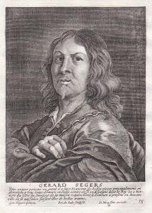 Gerard Segers - Gerard Seghers Maler painter Portrait Kupferstich copper engraving antique print