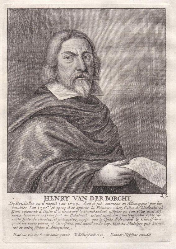 Henry van der Borcht - Hendrick van der Borcht Maler painter Portrait Kupferstich copper engraving antique pri