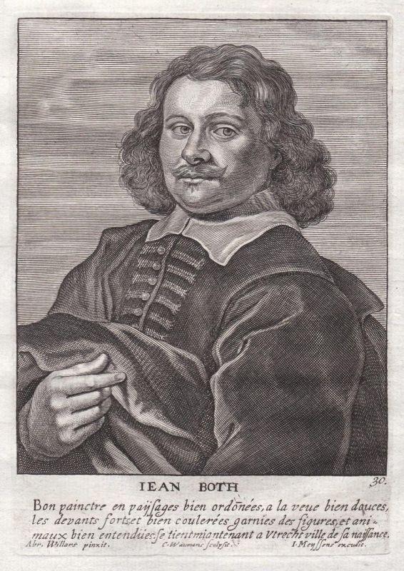 Iean Both - Jan Both Maler painter Portrait Kupferstich copper engraving antique print