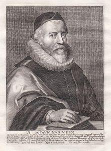 Octavio van Veen - Otto van Veen Maler painter Portrait Kupferstich copper engraving antique print