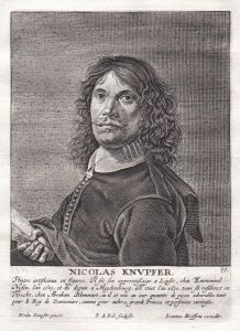 Nicolas Knupfer - Nicolaus Knüpfer Maler painter Portrait Kupferstich copper engraving antique print