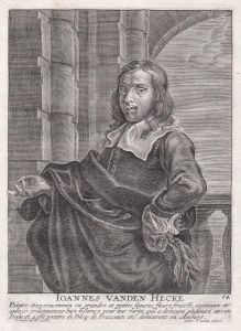 Ioannes Vanden Hecke - Jan van den Hecke Maler painter Portrait Kupferstich copper engraving antique print