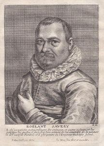 Roelant Savery - Roelant Savery Maler painter Portrait Kupferstich copper engraving antique print