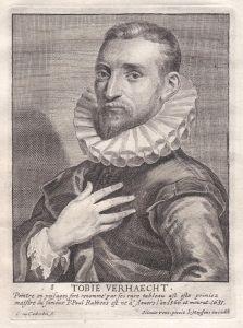 Tobie Verhaecht - Tobias Verhaecht Maler painter Portrait Kupferstich copper engraving antique print