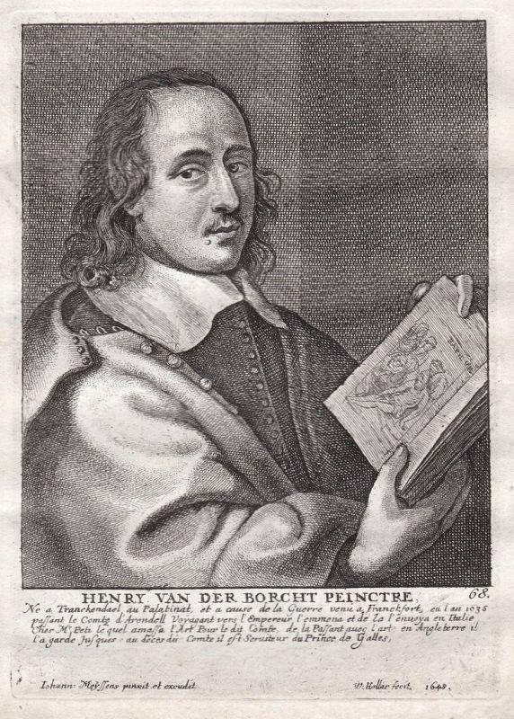 Henry van der Borcht Peinctre - Hendrick van der Borcht Maler painter Portrait Kupferstich copper engraving an