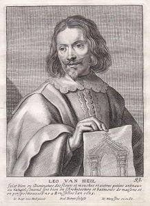 Leo van Heil - Leo van Heil Architekt architect Portrait Kupferstich copper engraving antique print
