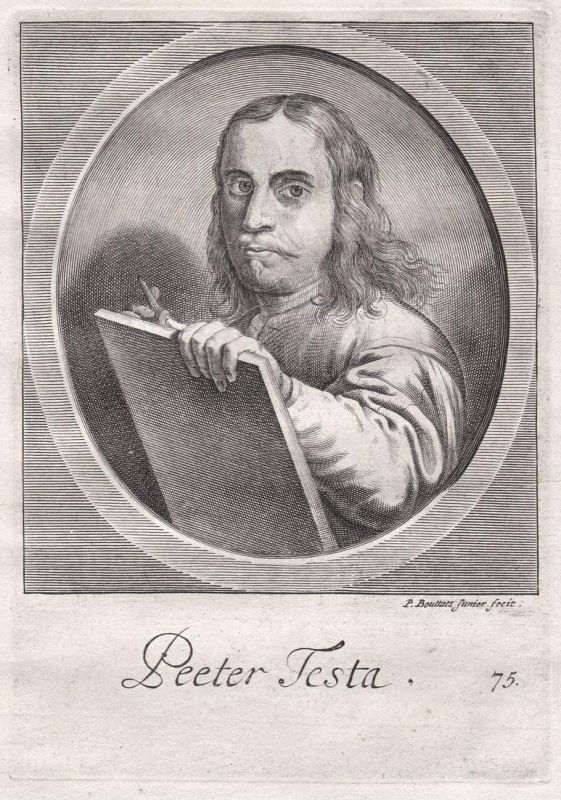 Peeter Testa - Peeter Testa Maler painter Portrait Kupferstich copper engraving antique print 0