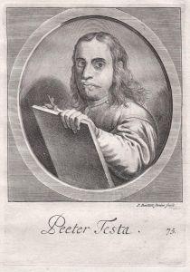 Peeter Testa - Peeter Testa Maler painter Portrait Kupferstich copper engraving antique print