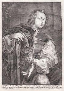 Petrus van Bredael - Pieter van Bredael Maler painter Portrait Kupferstich copper engraving antique print