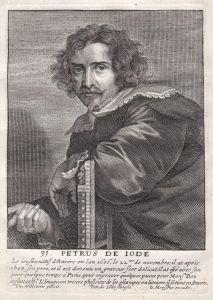 Petrus de Iode - Pieter de Jode Kupferstecher copper engraver Portrait Kupferstich engraving antique print