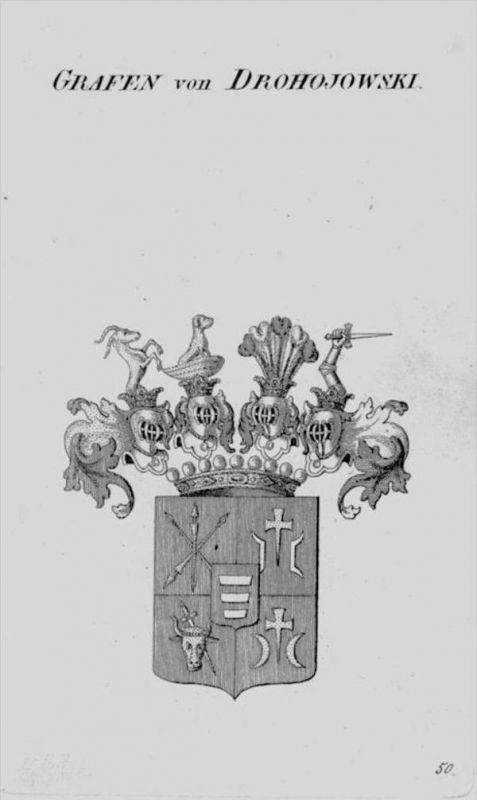Drohojowski Wappen Adel coat of arms heraldry Heraldik crest Kupferstich 0