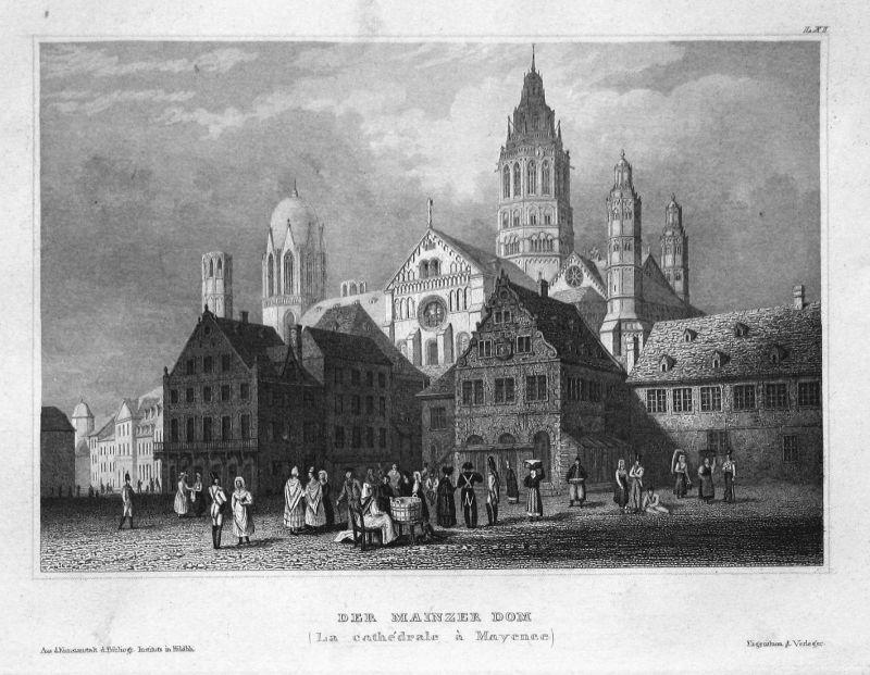 Der Mainzer Dom (La cathedrale a Mayence) - Mainz Dom Kirche Kathedrale Rheinland-Pfalz Ansicht view Stahlstic