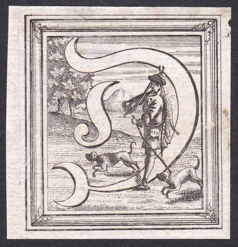 Ornament Kupferstich-Buchstabe ornament letters antique print gravure copper engraving