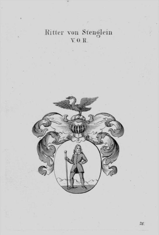 Stenglein Wappen Adel coat of arms heraldry Heraldik crest Kupferstich