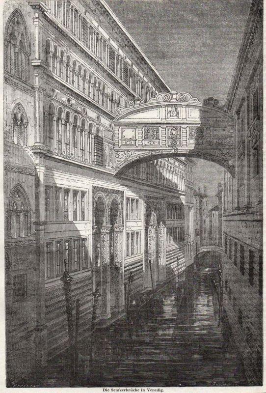 Seufzerbrücke in Venedig - Seufzerbrücke Bridge of Sighs Venedig Venice Venezia Italy Italia Italien Brücke br