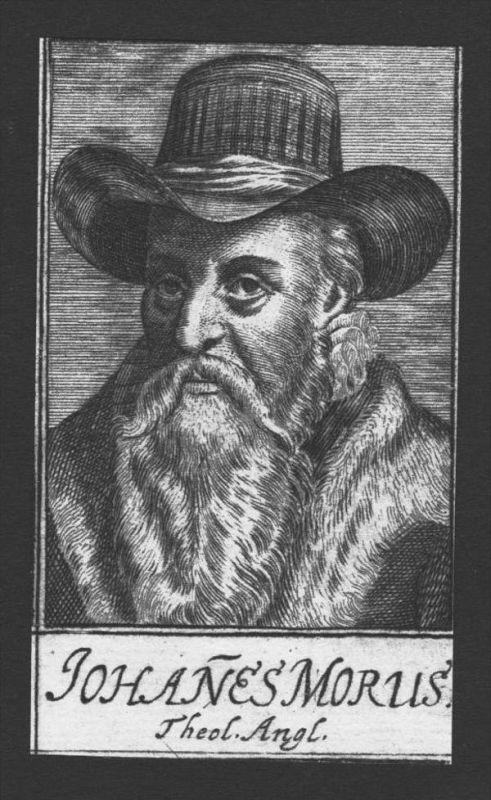 Johannes Morus Theologe Professor Great Britain Kupferstich Portrait