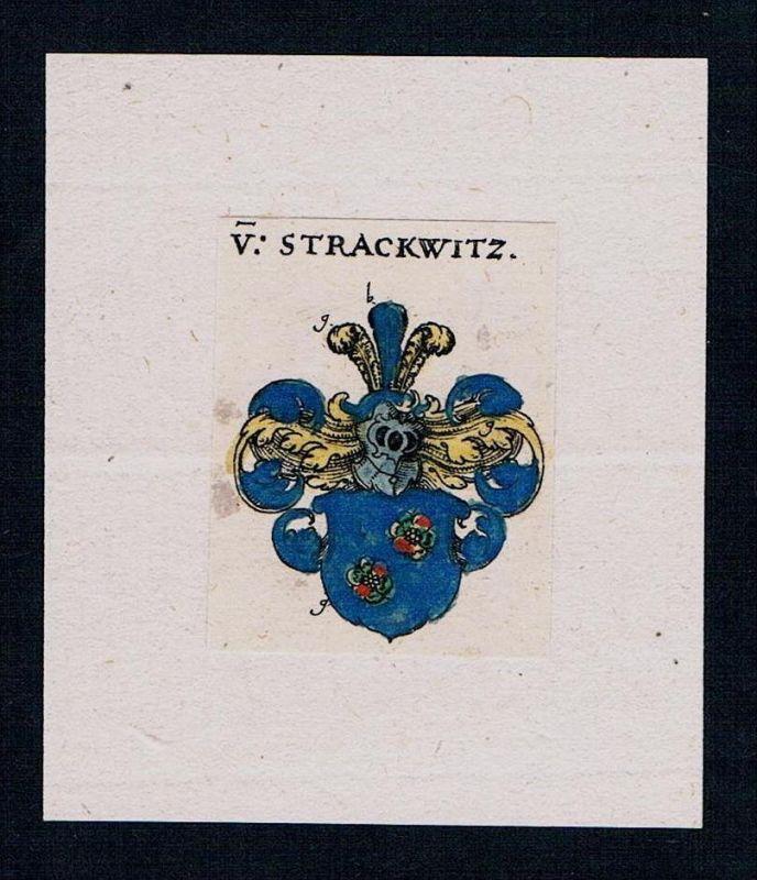 Von Strackwitz Wappen coat of arms heraldry Heraldik Kupferstich