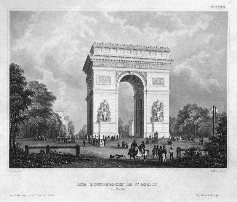 Der Triumphbogen de l'Etoile in Paris - Arc de Triomphe de l'Étoile Paris Frankreich France Ansicht view Stahl