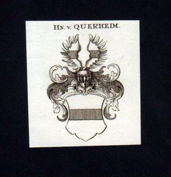 Herren v. Querheim Kupferstich Wappen