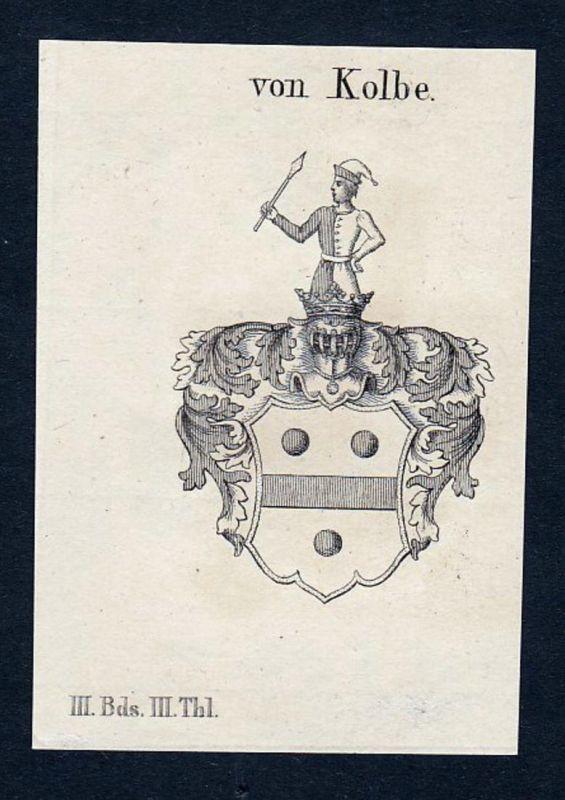 Von Kolbe - Johann Kasimir Kolb Kolbe Wappen Adel coat of arms heraldry Heraldik Kupferstich engraving