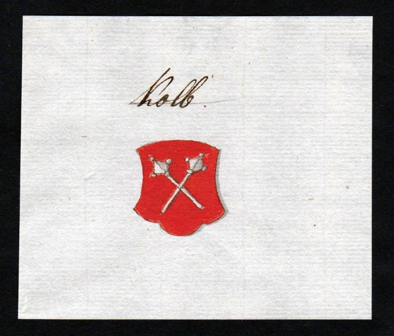 Kolb - Kolb Handschrift Manuskript Wappen manuscript coat of arms