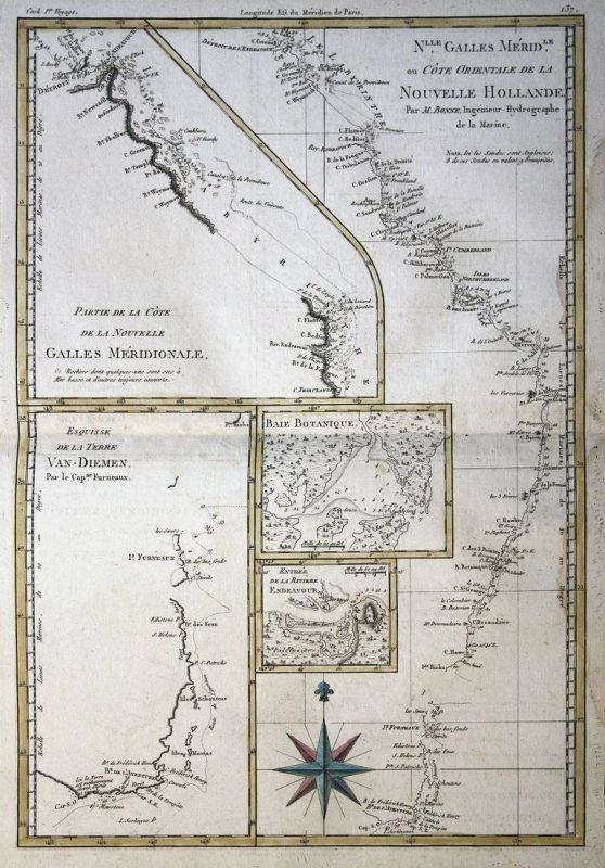 N.lle Galles Merid.le ou Cote Orientale de la Nouvelle Hollande / Partie de la Cote de la Nouvelle Galles Meri