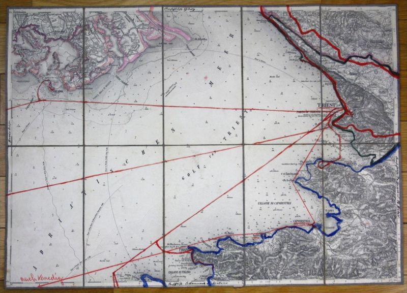 Triest Trieste Muggia Koper Grado Piran Italia Croatia Kroatien carta map