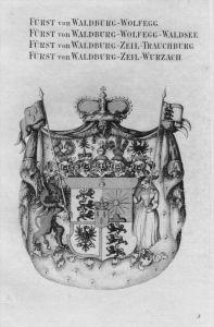 Waldburg Wolfegg Waldsee  Wappen Adel coat of arms Kupferstich