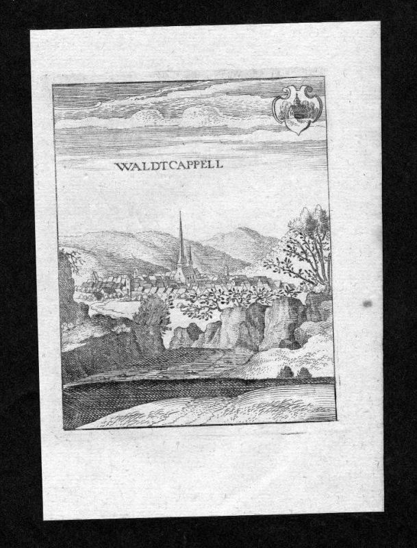 Waldkappel Landkreis Eschwege Hessen gravure Merian Kupferstich engraving
